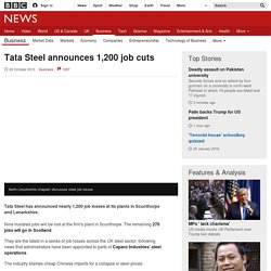 Tata Steel announces 1,200 job cuts