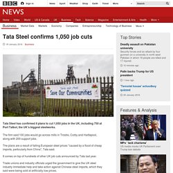 Tata Steel confirms 1,050 job cuts