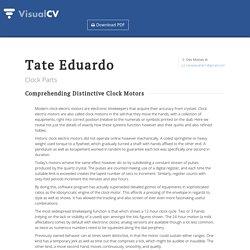 Tate Eduardo - Clock Parts