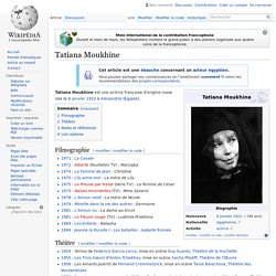 Tatiana Moukhine