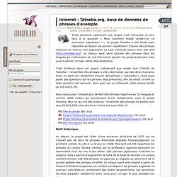 Tatoeba.org, base de données de phrases d'exemple