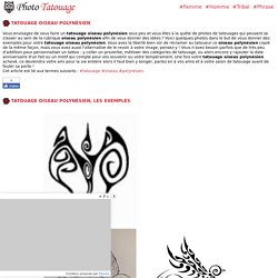 Tatouage oiseau polynésien - Modèles et Exemples