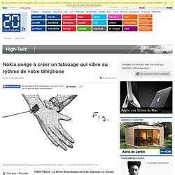 Nokia songe à créer un tatouage qui vibre au rythme de votre téléphone
