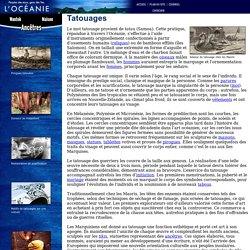 Tatouages: Océanie: Musée de la civilisation
