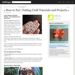 Tatting Craft Tutorials and Projects ★