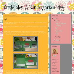 A Kindergarten Blog: Light