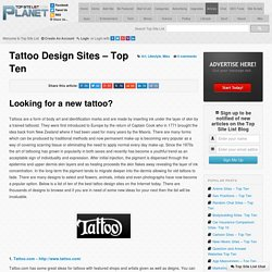 Tattoo Design Sites - Top Ten