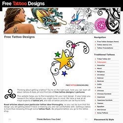 Free Tattoo Designs: Tribal, Gemini, Cross, Star, Butterfly, Che