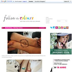 Follow the Colours: #tattoofriday - Matching Tattoos - StumbleUpon