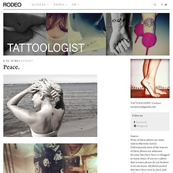 Tattoologist | Rodeo Magazine - StumbleUpon