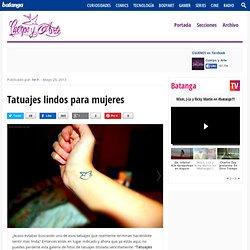 Tatuajes lindos para mujeres