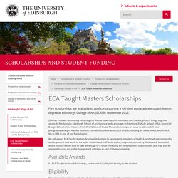 ECA Taught Masters Scholarships