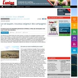 L UNION CANTAL 13/05/15 Le rat taupier, nouveau seigneur des campagnes ?