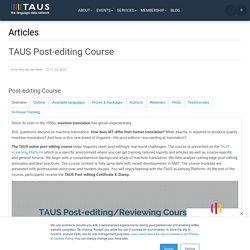TAUS - The Language Data Network