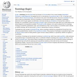 Tautology (logic)