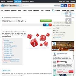 Taux d'intérêt légal 2016
