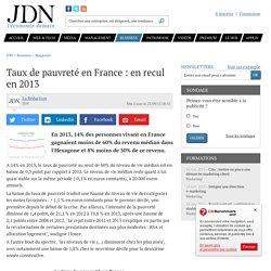 Taux de pauvreté en France : à son plus haut niveau depuis1997