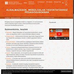 Alkalmazások, weboldalak távoktatáshoz pedagógusoknak – Magyar Digitális Oktatásért Egyesület