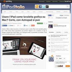 Usare l'iPad come tavoletta grafica su Mac? Certo, con Astropad si può