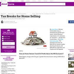 Tax Breaks for Home Selling