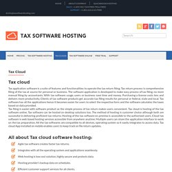 Cloud Tax software
