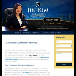 Tax Penalty Abatement Lawyer