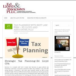 Tax Planning with Best Law Firm - Ed Lloyd