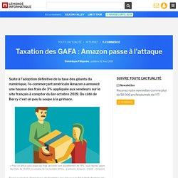 Taxation des GAFA : Amazon passe à l'attaque