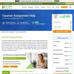 Taxation Assignment Help & Writing Services Online in UK