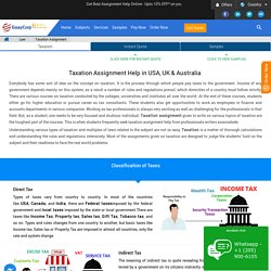 Taxation Assignment Writing Service