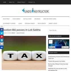 Taxation Bill passes in Lok Sabha