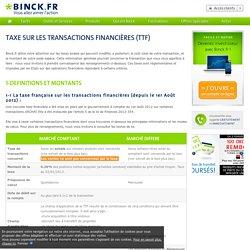Taxe sur les Transactions Financières (TTF)