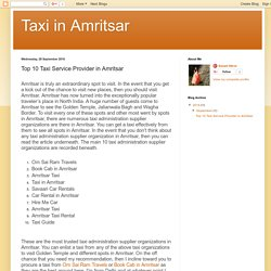 Taxi in Amritsar: Top 10 Taxi Service Provider in Amritsar