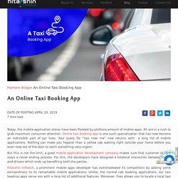 An Online Taxi Booking App