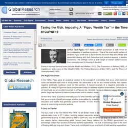 """Taxing the Rich. Imposing A """"Pigou Wealth Tax"""" in the Time of COVID-19"""