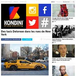 Des taxis Delorean dans les rues de New York