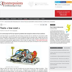 Taxis « low cost » | Contrepoints