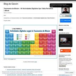 Taxonomía de Bloom – 64 Actividades Digitales tipo Tabla Periódica