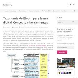Taxonomía de Bloom para la era digital. Concepto y herramientas
