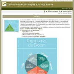 Des outils pour la classe - Taxonomie de Bloom adaptée à 21 apps Android
