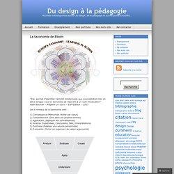 La taxonomie de Bloom « Du design à la pédagogie