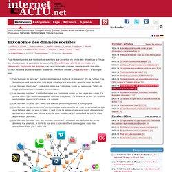 Taxonomie des données sociales