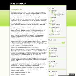 Taxonomies 3.0 « Trend Monitor 2.0