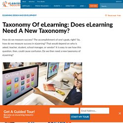 Taxonomy Of eLearning: Does eLearning Need A New Taxonomy? - eLearning Industry