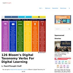 126 Bloom's Taxonomy Verbs For Digital Learning - TeachThought