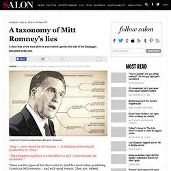 A taxonomy of Mitt Romney's lies