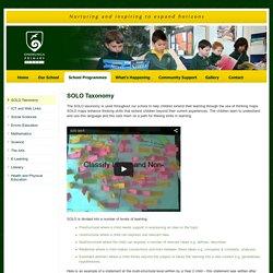 SOLO Taxonomy - Onehunga Primary School