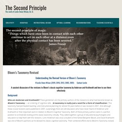Bloom's Taxonomy Revised - The Second Principle
