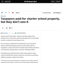 Taxpayers paid for charter school property, but they don't own it