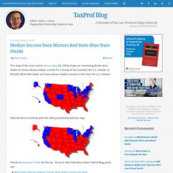 Median Income Data Mirrors Red State-Blue State Divide